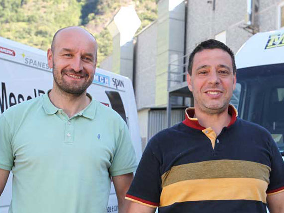 Maurizio Braga e Denis Santagiuliana, soci fondatori Mesolricambi Sagl