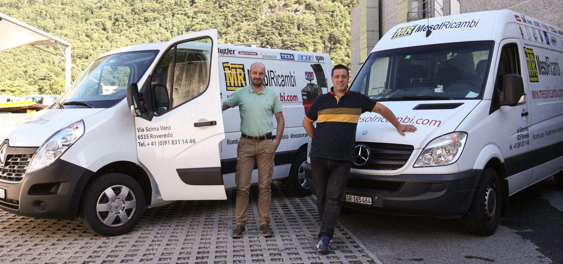 Maurizio Braga e Denis Santagiuliana, fondatori Mesolricambi Sagl