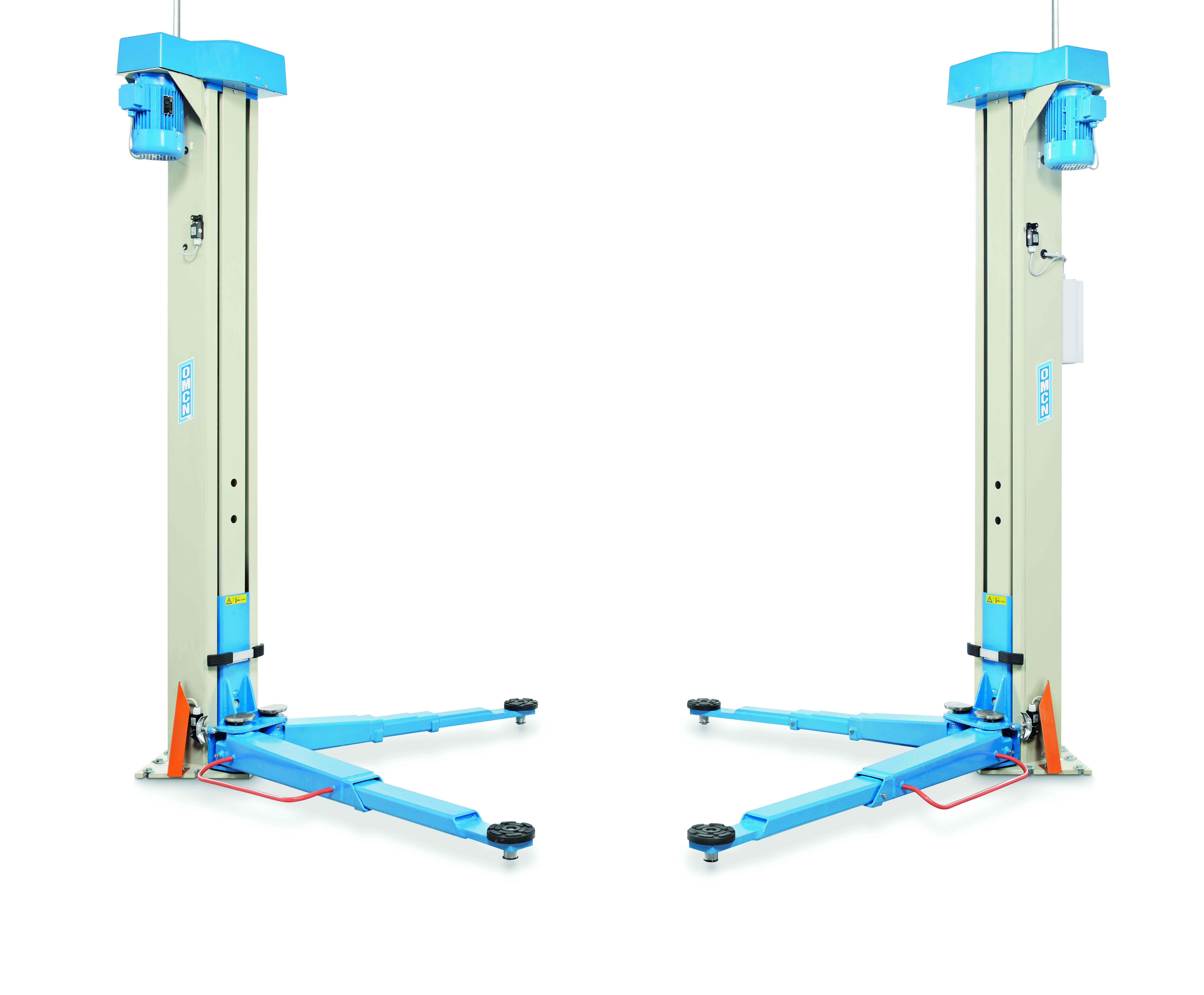 Ponte sollevatore a due colonne senza basamento da 3 5 ton for Ponte adue colonne usato