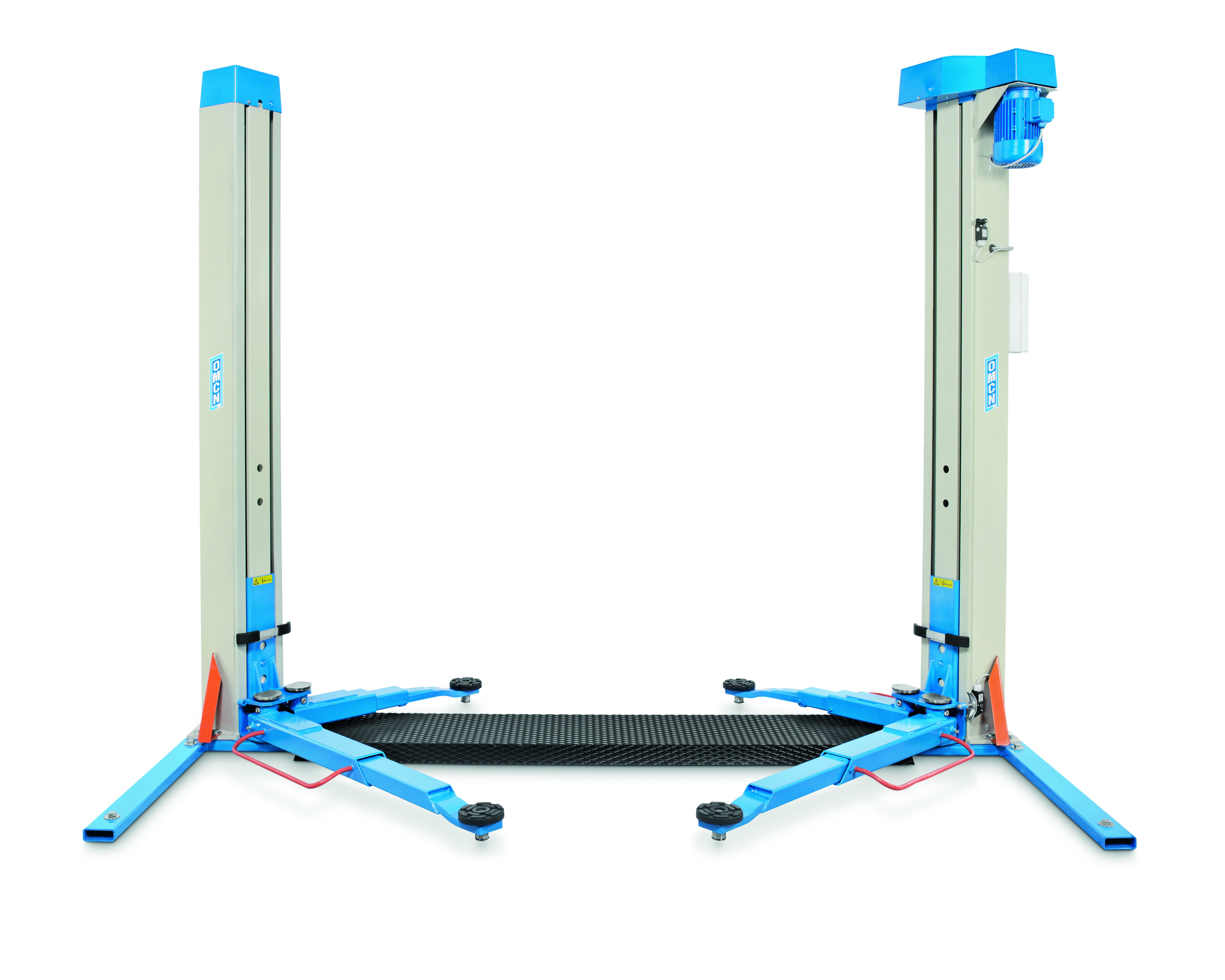 Ponte sollevatore a due colonne con basamento 3 2 ton for Ponte due colonne usato