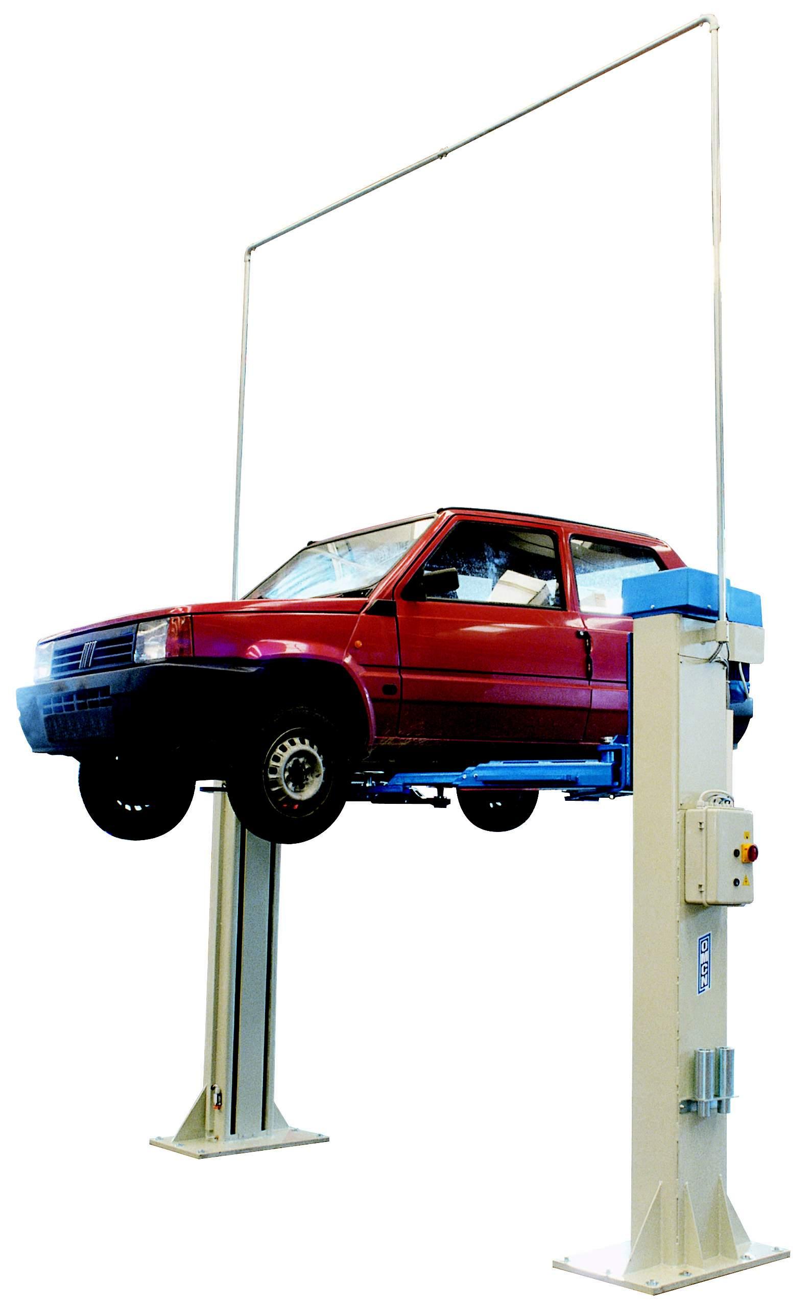 Ponte sollevatore a due colonne senza basamento da 5 5 ton for Ponte due colonne usato