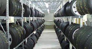 Scaffali porta pneumatici