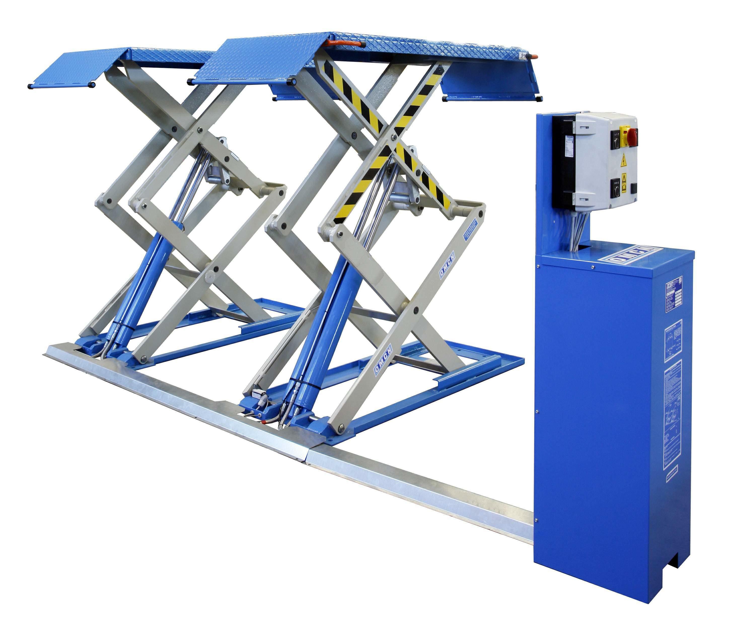 Ponte sollevatore elettroidraulico a doppia forbice omcn for Ponte sollevatore a forbice