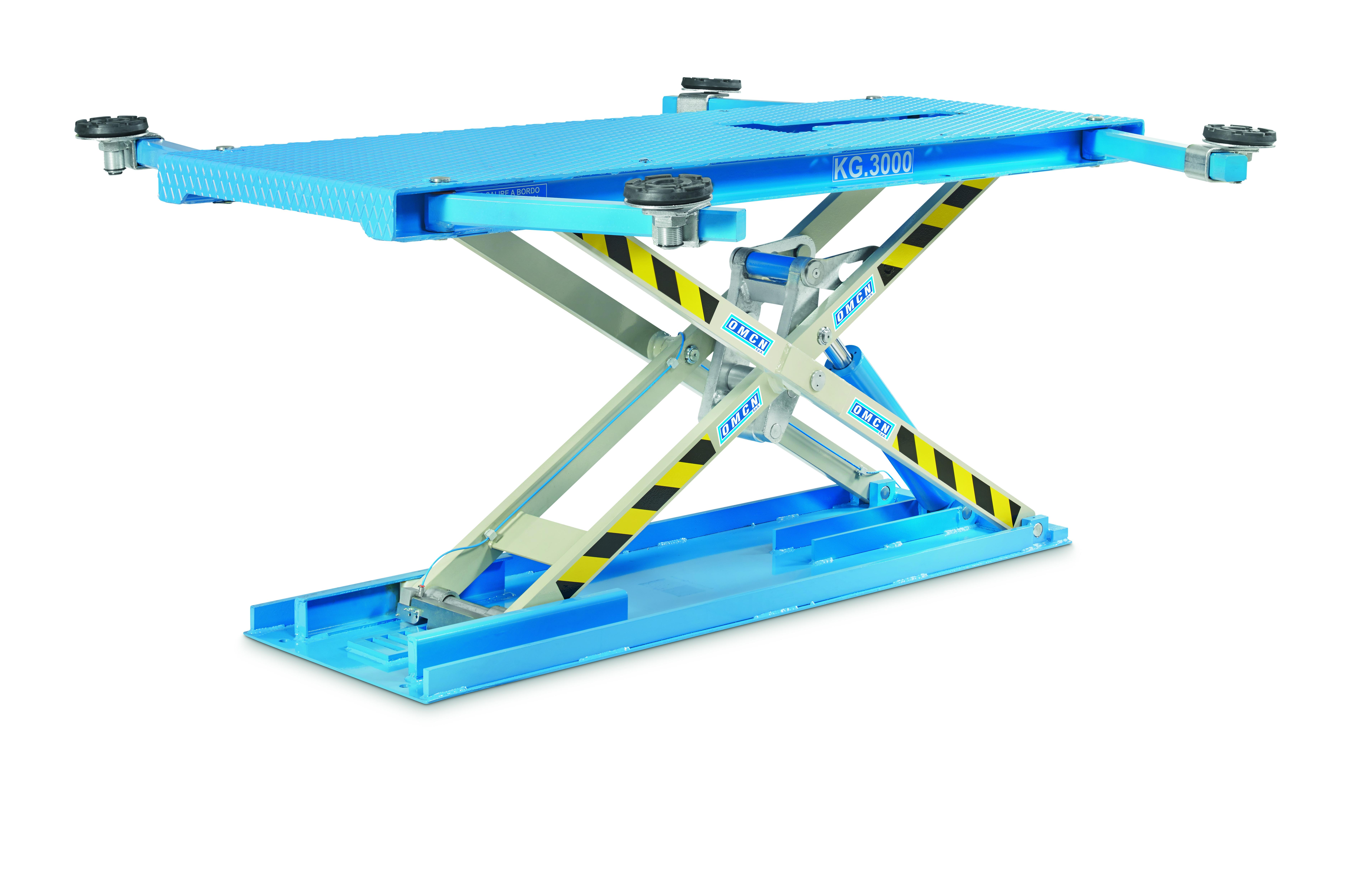 Ponte Sollevatore Elettroidraulico A Forbice A Basso Profilo Portata